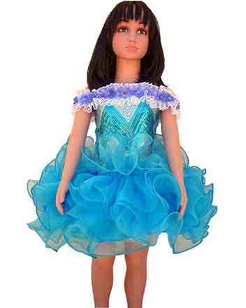 Nice blue pageant dress and Drum major dress for girls