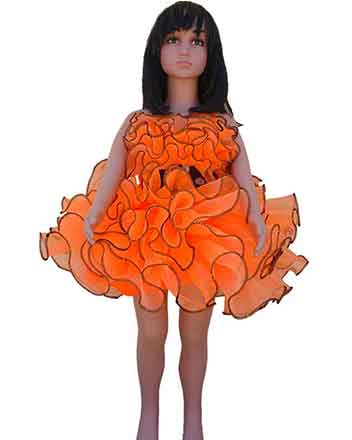 Lovely Orange, Girl Pageant dress, Drum major dress, your Princes love it