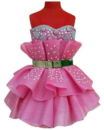 lovely design dress with Rhinestones for Pageant girls and Drum majors