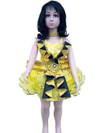 Great Yellow Pageant dress for Girls and Girl drum majors many different colors available